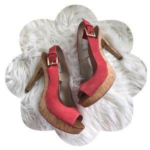 Michael Kors Platform Peeptoe Slingback Sandals